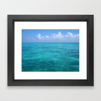 Caribbean Blues Framed Art Print