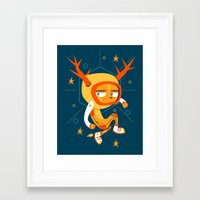 Space Deer Framed Art Print