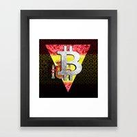 Bitcoin Spain Framed Art Print