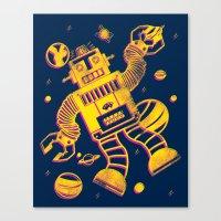 Cosmo Robot Canvas Print