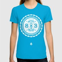 Motivate & Inspire (Whit… Womens Fitted Tee Teal SMALL