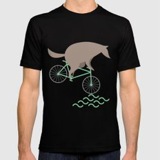 Wheelwolf SMALL Black Mens Fitted Tee