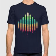 Synesthesia Mens Fitted Tee Navy SMALL