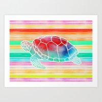 Turtle  By Jacqueline Ma… Art Print
