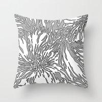 Animal Blossom Throw Pillow