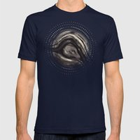 Abstract bwv 01 Mens Fitted Tee Navy SMALL