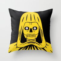 Yellow Death Throw Pillow