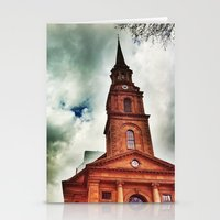 Red Church Stationery Cards