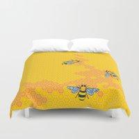 HoneyBees 1 Duvet Cover
