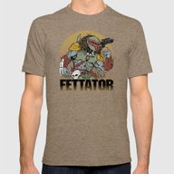 Fettator Mens Fitted Tee Tri-Coffee SMALL
