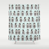 Just penguins Shower Curtain