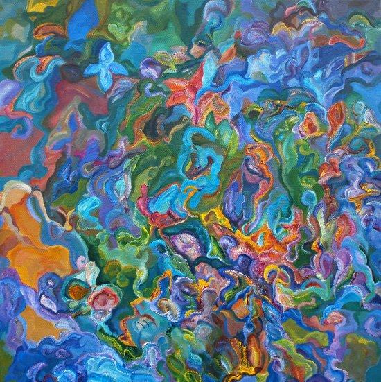 Psychedelic Garden Art Print