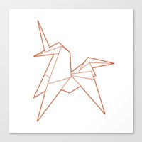 Origami Unicorn Canvas Print