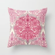 Happy Place Doodle In Be… Throw Pillow