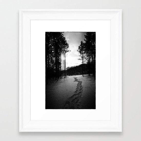Home Before Dark Framed Art Print