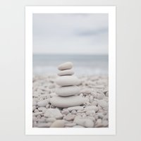 Zen sea Art Print