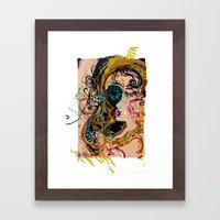 danae and shower of gold Framed Art Print