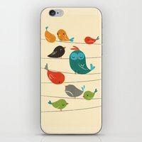 Colorful Birds iPhone & iPod Skin