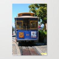 Trolley Car Canvas Print