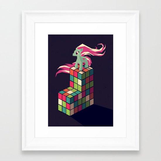colorful toys Framed Art Print
