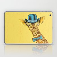I'm too SASSY for my hat! Vintage Painted Giraffe. Laptop & iPad Skin