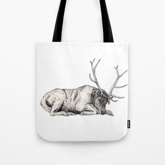 Stag // Graphite Tote Bag