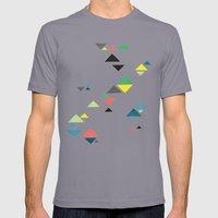 Triangles Mens Fitted Tee Slate SMALL