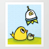 Egg-Ship Art Print