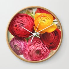 (Ranunculus) Flowers - For You! Wall Clock