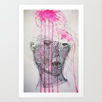 pink is the new black for xmas Art Print