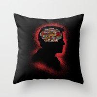 Castiel's Phrenology Throw Pillow