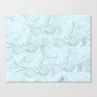 Canvas Print featuring Delicate Mint Green Flor… by Judy Palkimas