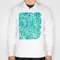 Split Leaf Philodendron – Turquoise Hoody