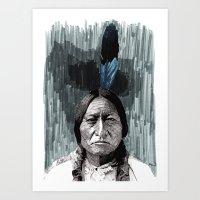 Art Print featuring Sitting Bull by Rik Reimert
