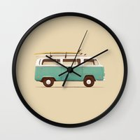 Blue Van Wall Clock