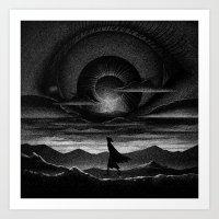 Drawlloween 2015: Eye Ba… Art Print