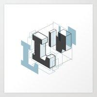 The Exploded Alphabet / … Art Print