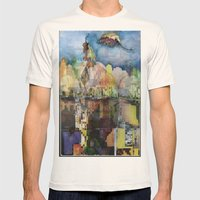 Central Park in Autumn Mens Fitted Tee Natural SMALL