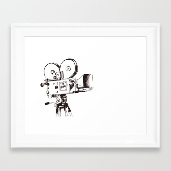 vintage filming Framed Art Print