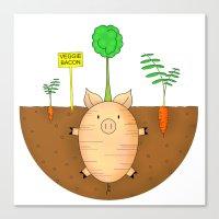 Veggie bacon Canvas Print