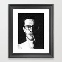 John Frusciante Pointill… Framed Art Print