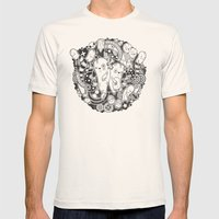 Wurme Mens Fitted Tee Natural SMALL