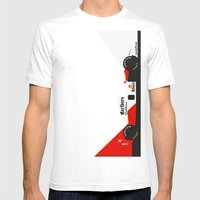 MP4/6 Mens Fitted Tee White SMALL