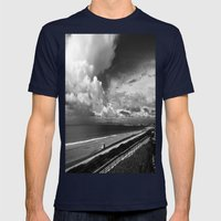 Torrance Beach Mens Fitted Tee Navy SMALL