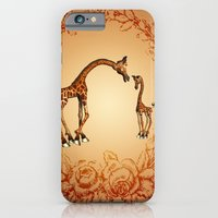iPhone Cases featuring Cute giraffe  by nicky2342