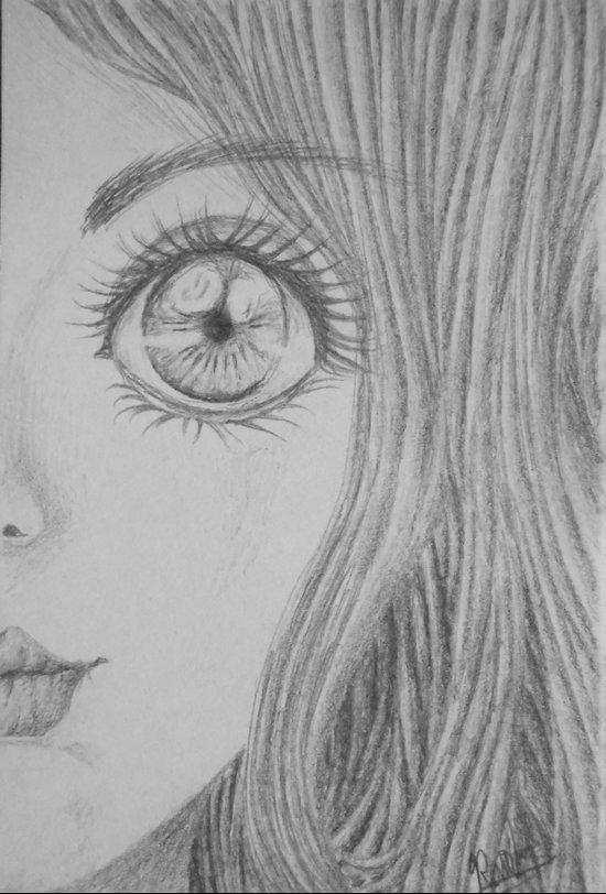 Face sketch Art Print