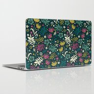 Midnight Florals (pop) Laptop & iPad Skin