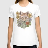 Fox Garden Womens Fitted Tee White SMALL