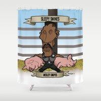 Sleepy Swines (Wesley Sn… Shower Curtain