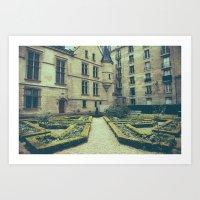 French Garden Maze IV Art Print